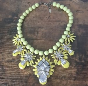 Bauble Bar Yellow Statement Necklace